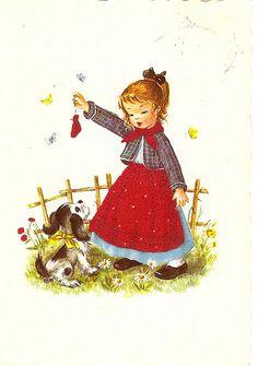 a girl and a cute dog | von Paicil