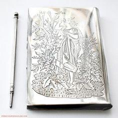 19th Century #Victorian #Sterling #Silver #Necessaire Lady's Wallet #Portrait #Garden. #frenchgardenhousestyle