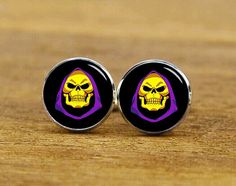 ON SALE Skull King Cuff Links King Cuff Links by ArtfireSupplies
