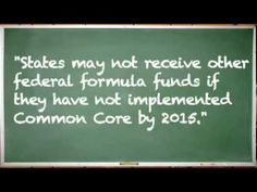 The History of Common Core.  Also view YouTube/Anita Hoge's The End Game of Assessment