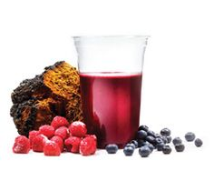 Bites like chaga. This immunity booster has many superfoods from Finnish nature in it. The smoothie is made of blueberries, blackcurrants, chaga tea, reishi powder, Finnish organic honey, liquorice root powder, chia seeds, sesame seeds. The taste is irresistible!