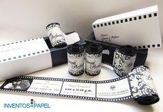 ¡Invitaciones únicas para tu boda! #weddinginvitations #luxury #blacknwhite #original #cine