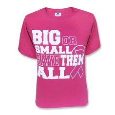 'Big or Small' Breast Cancer Awareness T-Shirt | Tiger Bookstore