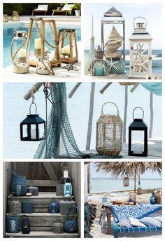 Coastal Homes, Coastal Living, Deco Theme Marin, Deco Marine, Beach Wedding Reception, Beach Cottage Decor, Beach Cottages, Ladder Decor, Farmhouse Decor