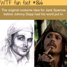 The original costume idea for Captain Jack Sparrow...until Johnny had a word about it. He's brilliant.