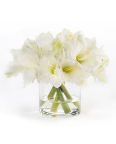 Elegant White Amaryllis Silk Flower Centerpiece | Beauty and Style With Artificial Silk Flowers