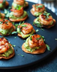 cajun shrimp guacamole bites recipe