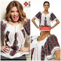 roumanian peasant blouse , roumanian folk fashion shop www.iiana.ro