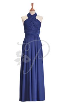 Bridesmaid Dress Infinity Dress Navy Blue Floor Length Wrap Convertible Dress Wedding Dress