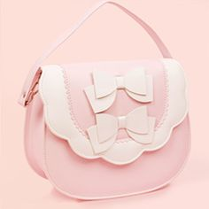 Double Bow Multi Bag - Pink x White