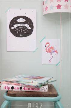 Dream big! #littledutch #flamingo #jipenjanneke #mixedstarspink #dreambig