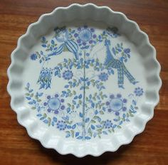 Great addition to our collection of Lotte dishes we inherited from Matt's side: butter dish: Quiche dish
