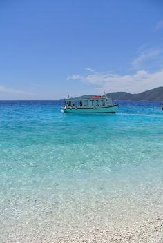 Wonderful blue green beach Green Beach, Blue Green, Exotic Beaches, Greek Islands, More Photos, Greece, Outdoors, Water, Beautiful