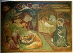 Some Image, 14th Century, Middle Ages, Blue Dresses, Bolognese, Challenges, Painting, Religion, Detail