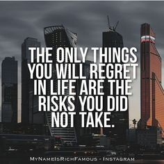 """""""You may be disappointed if you fail but you're doomed if you don't try. Follow  @mynameisrichfamous"""""""