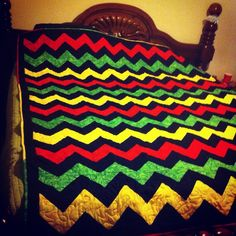 My completed rasta quilt! :)