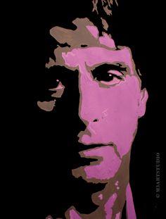 """Al Pacino  20"""" X 25.5""""  Acrylic on Canvas Paper  2011"""