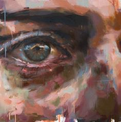 Eye #6 by Jerome Lagarrigue French born artist Jerome Lagarrigue, in his larger than life portrait studies, focuses his brush on the eyes of his subject, revealing emotion that we might not notice without such targeted attention.