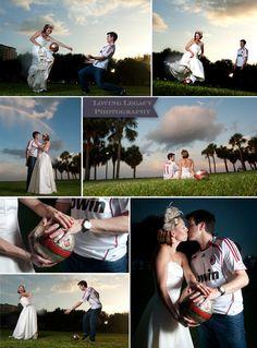 st petersburg wedding photographer trash the dress loving legacy.... engagement photo soccer shoot.