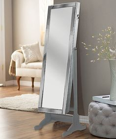 Take a look at this Silver Allure Full-Length Armoire Mirror today!