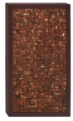 28x51 Contemporary Brown Textured Geometric Wood Wall Art Modern Home Decor