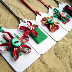 Hacer etiquetas de Navidad para regalos ~ Portal de Manualidades