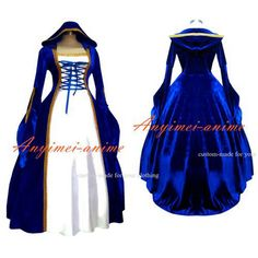 Free Shipping Victorian Rococo Medieval Gown Ball Dress Gothic Punk Velvet Dress…