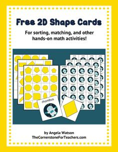FREE 2D Shape Cards for sorting, matching, and other hands-on geometry activities.