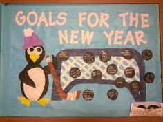 goals for the new year! bulletin board january RA 2014