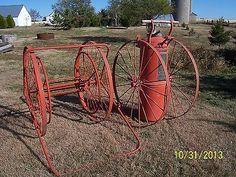 cart Vintage fire hose