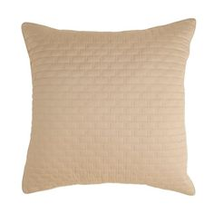Rayon from Bamboo Quilted Euro Sham in Champagne