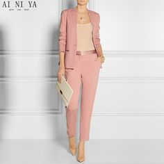 By Malene Birger - Brinda satin-trimmed stretch-jersey blazer Business Outfit Frau, Business Outfits, Business Attire, Fashion Mode, Office Fashion, Work Fashion, Womens Fashion, Fashion Design, Office Attire