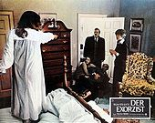 Pretty cool German lobby cards for The Exorcist Linda Blair, The Exorcist 1973, Sympathy For The Devil, Pretty Cool, Movies To Watch, Horror, Stock Photos, The Originals, Ellen Burstyn