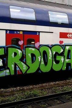 """""""Erdobahn"""" in der Schweiz: Sprayer veräppeln türkischen Präsidenten"""