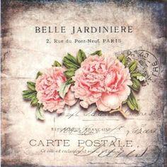 Vintage Crafts, Vintage Paper, Decoupage Printables, Pink Rose Flower, Decoupage Paper, Background Vintage, Vintage Labels, Rose Design, Botanical Prints