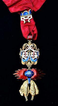 Spain, Golden Fleece Order, neck badge, 19th Century.
