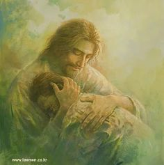 picture of jesus christ holding embracing a repentantant man on his shoulder Jesus Smiling, Pictures Of Jesus Christ, Bible Pictures, Sisters In Christ, Biblical Art, Christian Devotions, Jesus Is Lord, Jesus Father, Walk By Faith