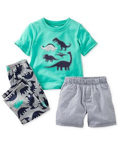 Carter's Toddler Boys' 3-Piece Dino Pajamas