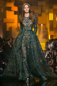 A look from the Elie Saab Fall 2015 Couture collection.