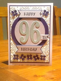 Stampin Up, Number of Years stamp set, number Framelits. Sarah B's Creative Corner