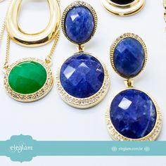Que tal fazer incríveis combinações com pedras naturais??  www.eleglam.com.br