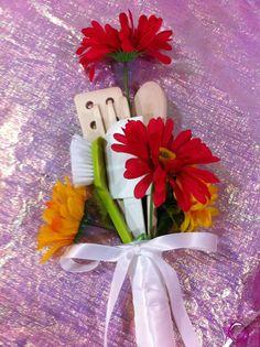 kitchen utensil bouquet for bridal shower game prizes