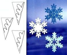 как сделать снежинки из бумаги схемы - Google-Suche