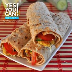 Chicken Shawarma - A Healthy Option For Your Yes You Can! Diet Plan Lunch