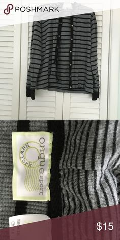 Striped hoodie Perfect condition, never worn Onque sport Tops Sweatshirts & Hoodies