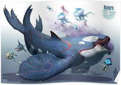 Amazing Fan Art of All 135 Sapphire & Ruby Pokemon by 135 Different Artists Kyogre by arvalis Pokemon Fusion Art, Pokemon Fan Art, Pokemon Na Vida Real, Pokemon Legal, Pokemon In Real Life, Creature Concept Art, Creature Design, Digimon, Fantasy Creatures