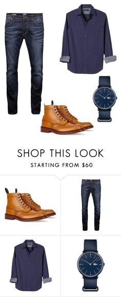 """""""Cool georgia"""" by jayonstewart-js on Polyvore featuring Tricker's, Jack & Jones, Banana Republic, Lacoste, men's fashion and menswear"""