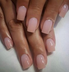 """If you're unfamiliar with nail trends and you hear the words """"coffin nails,"""" what comes to mind? It's not nails with coffins drawn on them. It's long nails with a square tip, and the look has. Manicure Y Pedicure, Gel Nails, Nail Polish, Manicure Ideas, Nail Ideas, Pedicures, Pedicure Designs, Glitter Nails, Pink Glitter"""