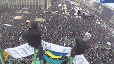 Ucraina Kiev Proteste - Video dall'Alto Manifestazione (+playlist)