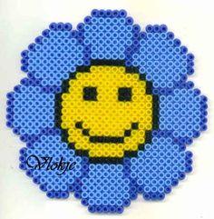 Smiley Bügelperlen hama perler beads